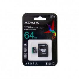 Micro SDXC card ADATA Premier Pro 64GB UHS-I U3 Class 10 (V30)