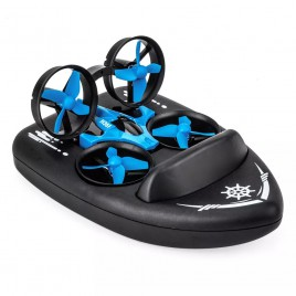 Drone boat JJRC H36F Terzetto 3 in 1 quadrocopter vehicle and boat