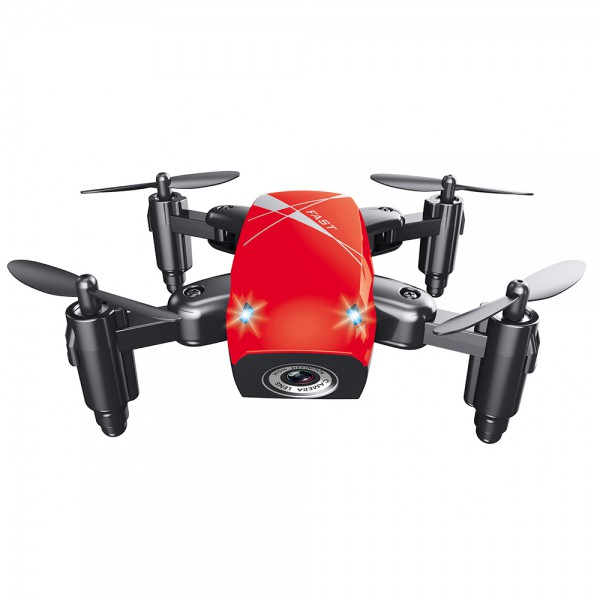 Micro-Drone AEOFUN S9 Foldable RC Quadcopter Red