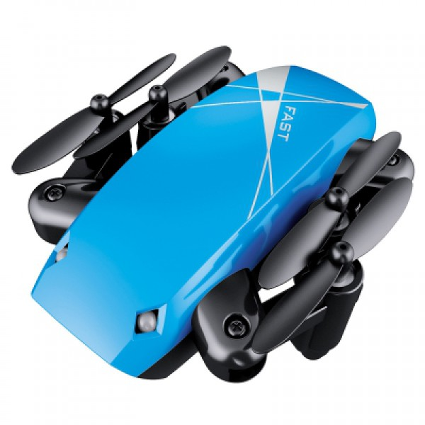 Micro-Drone AEROFUN S9 - Foldable RC Quadcopter Blue